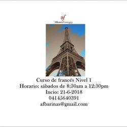 Curso de francés Nivel 1- Sábados 27-7-2018