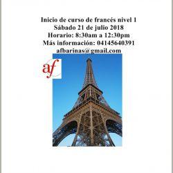 Inicio de Curso de francés