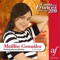 """Felicitaciones a Mailliw González nuestra participante en """"Canta en Francés 2019"""""""