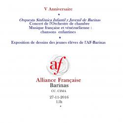 V Anniversaire de l'Alliance Française de Barinas-Venezuela