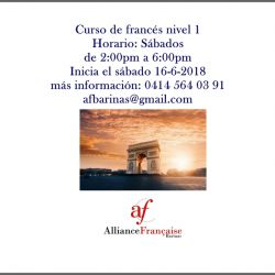 Curso de francés nivel 1  (Sábados)