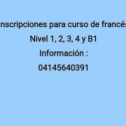 Inscripciones para cursos de francés