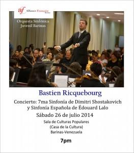 Concierto de Bastien Ricquebourg